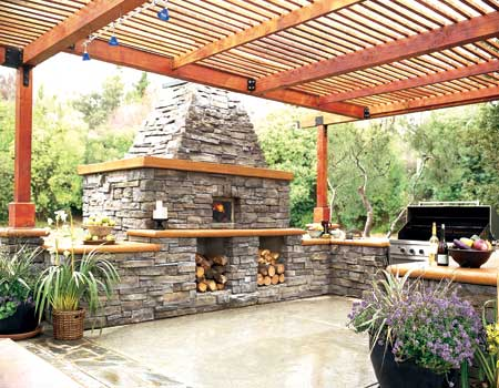 Outdoor kitchens and grills seattle brickmaster for Great outdoor kitchen ideas